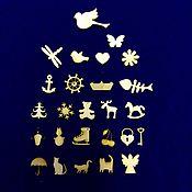 Материалы для творчества ручной работы. Ярмарка Мастеров - ручная работа мини-элементы.Декоративные элементы.. Handmade.