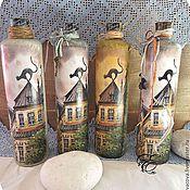 Посуда handmade. Livemaster - original item A set of bottles,Aroma of Riga,bottles,decoupage. Handmade.