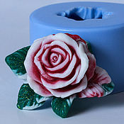 Формы ручной работы. Ярмарка Мастеров - ручная работа Силиконовая форма для мыла «Роза с листочками». Handmade.