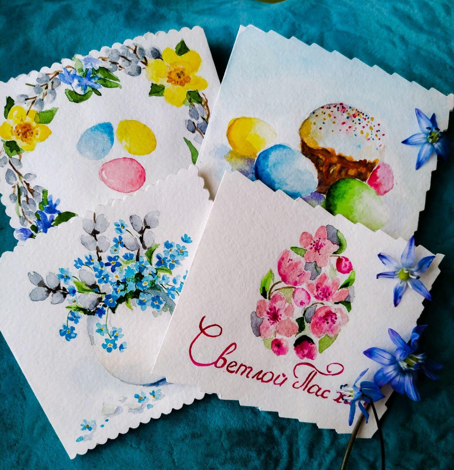 Пасхальная открытка ручная работа, днем рождения маме
