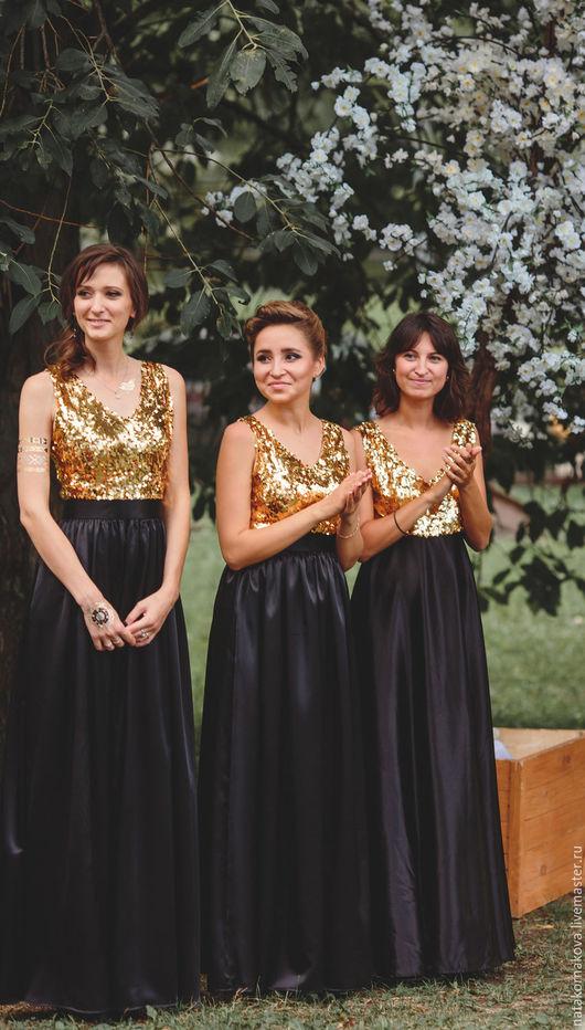 Платья ручной работы. Ярмарка Мастеров - ручная работа. Купить Платье подружки невесты. Handmade. Золотой, длинное платье