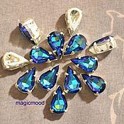 Материалы для творчества handmade. Livemaster - original item 1pcs Rhinestones teardrop 10h6 Czech Bermuda blue DACs. Handmade.