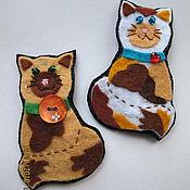 """Украшения ручной работы. Ярмарка Мастеров - ручная работа брошки """"кошки"""". Handmade."""