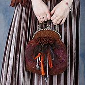 Сумки и аксессуары handmade. Livemaster - original item Felted evening bag