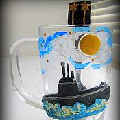 """Посуда ручной работы. Ярмарка Мастеров - ручная работа чашка с декором """"Для подводника"""". Handmade."""