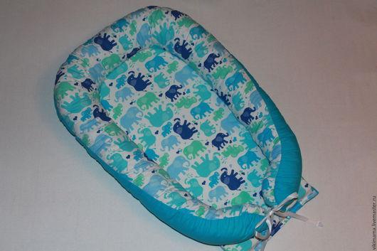 Для новорожденных, ручной работы. Ярмарка Мастеров - ручная работа. Купить Кокон для новорожденного. Handmade. Голубой, кокон, кокон для новорожденного
