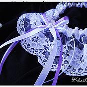 Свадебный салон ручной работы. Ярмарка Мастеров - ручная работа Подвязка Violet Line. Handmade.