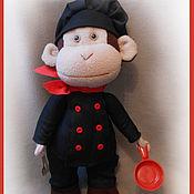 Куклы и игрушки ручной работы. Ярмарка Мастеров - ручная работа Обезьянка Шеф-повар 40 см. Handmade.