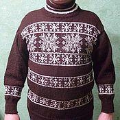 Пуловеры ручной работы. Ярмарка Мастеров - ручная работа Пуловер с орнаментом. Handmade.
