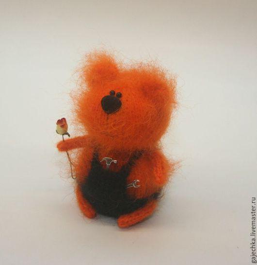 """Игрушки животные, ручной работы. Ярмарка Мастеров - ручная работа. Купить Вязаный медведь """"Прораб Потапыч"""". Handmade. Рыжий, игрушка"""