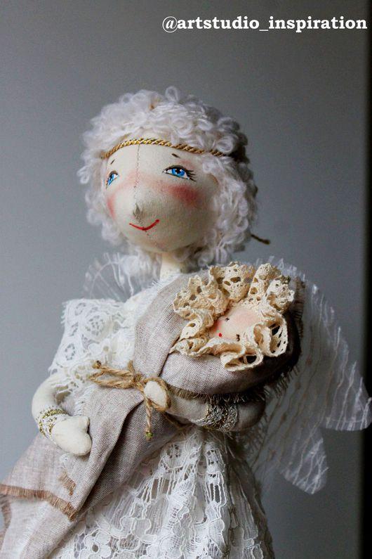 Сказочные персонажи ручной работы. Ярмарка Мастеров - ручная работа. Купить Ангел с младенцем (текстильная кукла на проволочном каркасе). Handmade.