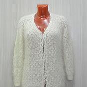 Одежда ручной работы. Ярмарка Мастеров - ручная работа Белая кофта из козьего пуха. Handmade.
