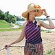 Шляпы ручной работы. Рыжик. Шляпа для лета.. Саша Толчеева. Интернет-магазин Ярмарка Мастеров. Шляпа, шляпа на дачу