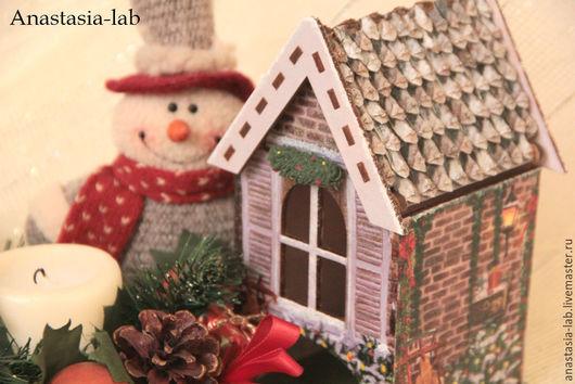 """Кухня ручной работы. Ярмарка Мастеров - ручная работа. Купить Чайный домик """"Новогодние чудеса"""". Handmade. Чайный домик"""