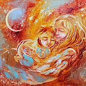 Картины и панно handmade. Livemaster - original item In the arms of the universe - painting on canvas. Handmade.