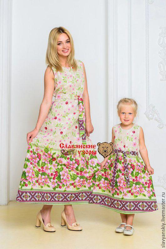 """Одежда для девочек, ручной работы. Ярмарка Мастеров - ручная работа. Купить Сарафанчик """"Вишенка"""". Handmade. Розовый, сарафан, летние"""