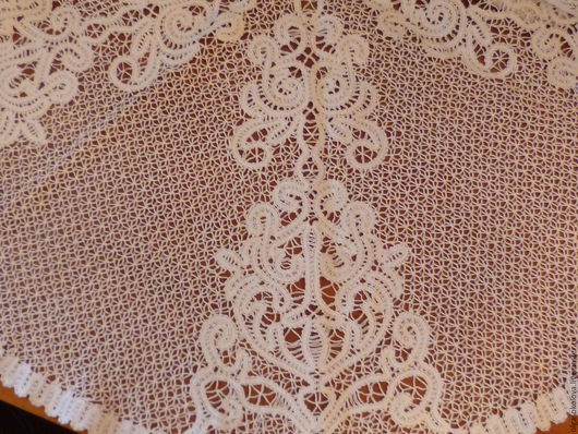Текстиль, ковры ручной работы. Ярмарка Мастеров - ручная работа. Купить скатерть. Handmade. Интерьерное украшение, кружево на коклюшках