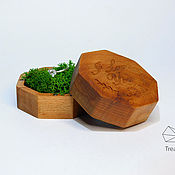 Свадебный салон handmade. Livemaster - original item Wooden jewelry box for wedding rings. Handmade.