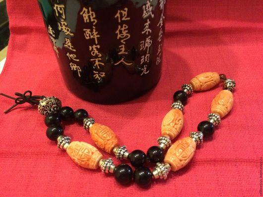 """Украшения для мужчин, ручной работы. Ярмарка Мастеров - ручная работа. Купить Четки тибетские  """" Ю и Цанг"""". Handmade."""
