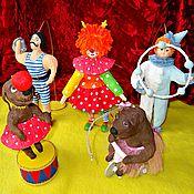 """Подарки к праздникам ручной работы. Ярмарка Мастеров - ручная работа Набор """"Цирк"""" - ватная игрушка. Handmade."""