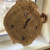 Для дома и интерьера handmade. Livemaster - original item Clock made of sawn poplar. Handmade.