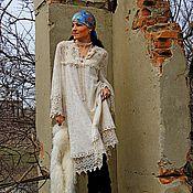 Платья ручной работы. Ярмарка Мастеров - ручная работа БОХО платье цвета шампань (72). Handmade.