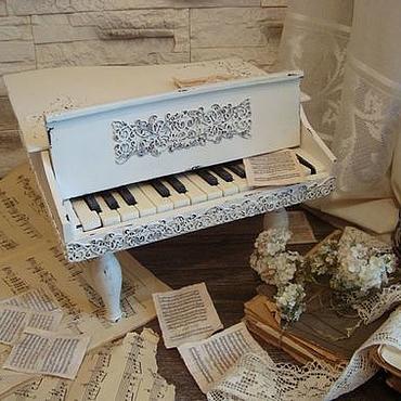 """Для дома и интерьера ручной работы. Ярмарка Мастеров - ручная работа Рояль """"Льется музыка..."""". Handmade."""