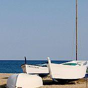 """Картины и панно ручной работы. Ярмарка Мастеров - ручная работа серия """"Берег"""" - лодки. Handmade."""