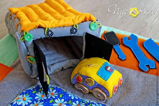 """Развивающие игрушки ручной работы. Ярмарка Мастеров - ручная работа. Купить Детский развивающий коврик """"Поехали!"""". Handmade. Коврик, развивающая"""