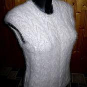 Vests handmade. Livemaster - original item Women`s knitted vest Tails. Handmade.