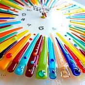 Для дома и интерьера ручной работы. Ярмарка Мастеров - ручная работа часы из стекла, фьюзинг  Шапито. Handmade.
