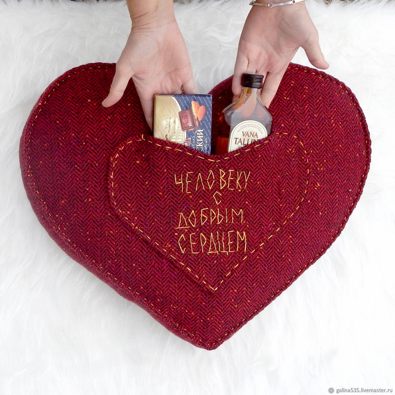внимание большая подушка в виде сердца с фотографией рисункам