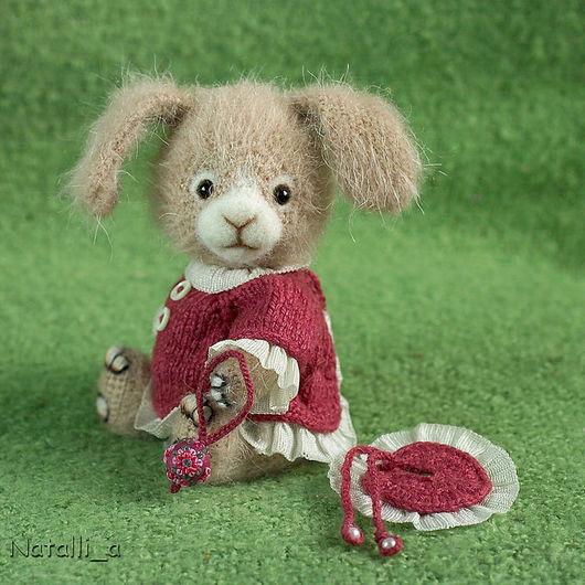 """Мишки Тедди ручной работы. Ярмарка Мастеров - ручная работа. Купить Зайка в шляпке (из серии """"Карнавал""""). Handmade. Заяц"""