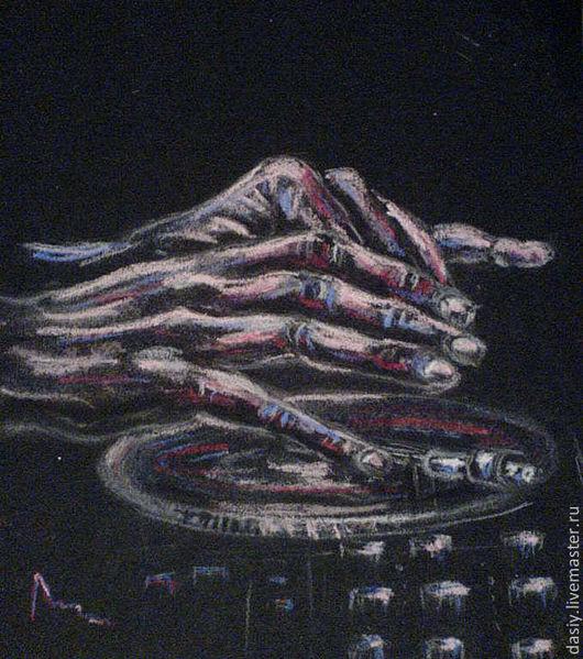 """Фэнтези ручной работы. Ярмарка Мастеров - ручная работа. Купить Картина пастелью """"ДиДжей"""". Handmade. Черный, диджей, dj, музыка"""