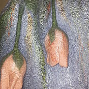 Аксессуары ручной работы. Ярмарка Мастеров - ручная работа Палантин-шарф Тюльпаны.. Handmade.