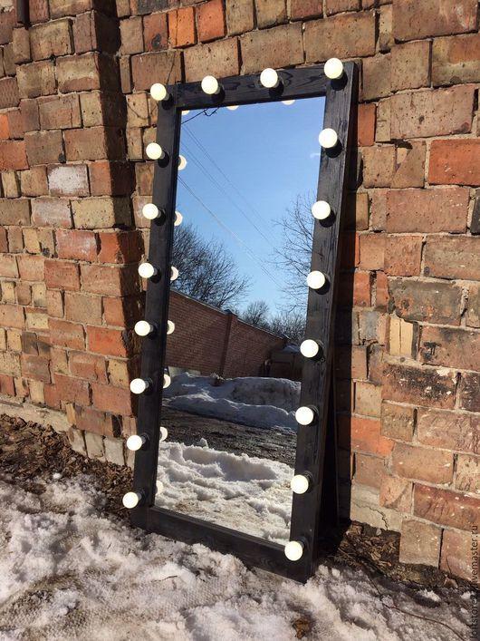 Зеркала ручной работы. Ярмарка Мастеров - ручная работа. Купить Гримерное зеркало BLACK STAR 180/80. Handmade. Черный