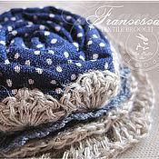 """Украшения ручной работы. Ярмарка Мастеров - ручная работа """"Francesca"""" текстильная брошь. Handmade."""