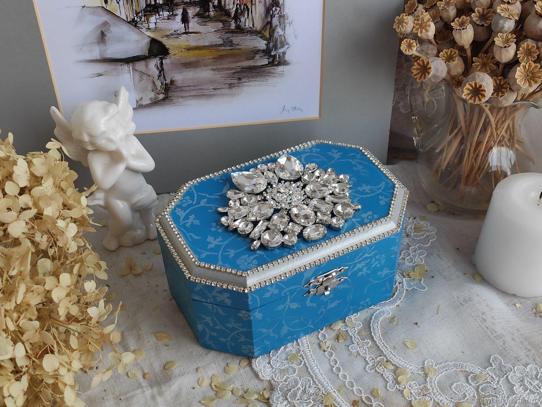 Небольшая шкатулка для украшений со стразами, Шкатулки, Москва,  Фото №1