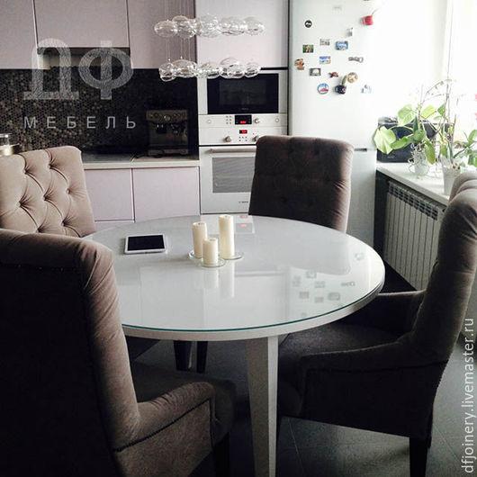 Мебель ручной работы. Ярмарка Мастеров - ручная работа. Купить Стол из дерева «Белый». Handmade. Кухонный интерьер, массив дерева