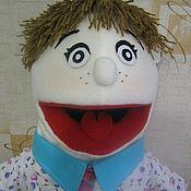 Куклы и игрушки ручной работы. Ярмарка Мастеров - ручная работа кукла на руку маппет мальчик. Handmade.