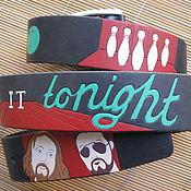 Аксессуары handmade. Livemaster - original item The BIG LEBOWSKI strap leather. Handmade.