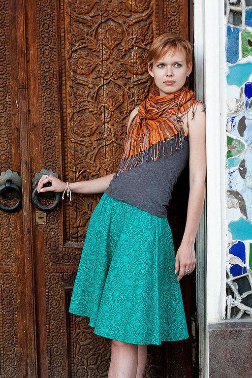 Skirts handmade. Livemaster - handmade. Buy Bell skirt 'Labyrinth of dreams'.Bell skirt