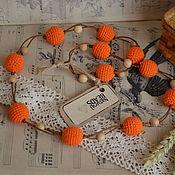 """Украшения ручной работы. Ярмарка Мастеров - ручная работа Оранжевые бусы """"Яркая осень"""". Handmade."""