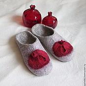 """Обувь ручной работы. Ярмарка Мастеров - ручная работа Тапочки """"Гранат"""". Handmade."""