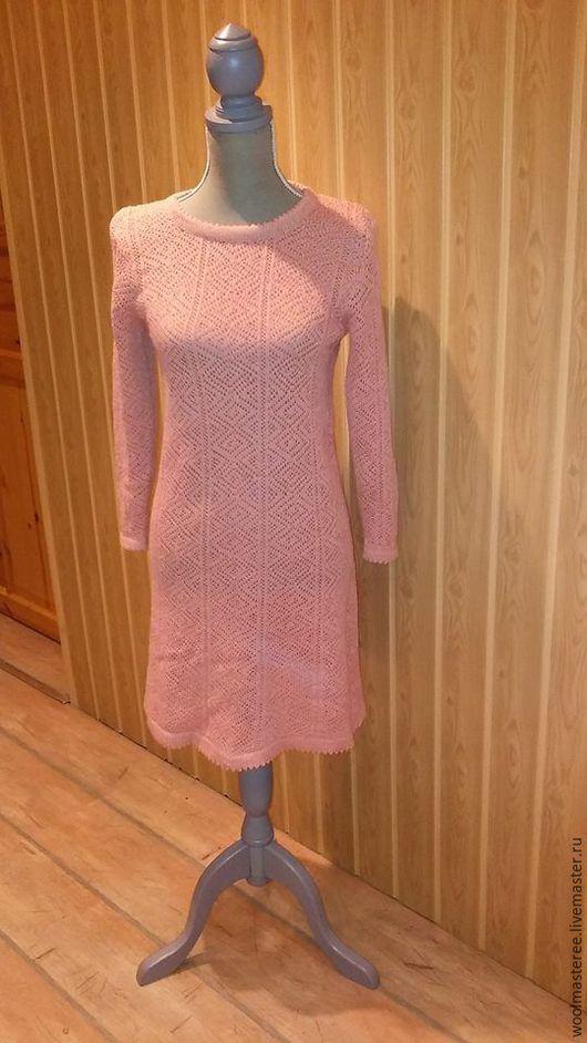Платья ручной работы. Ярмарка Мастеров - ручная работа. Купить Платье ручной работы, связанное из натуральной шерсти. Handmade. Голубой