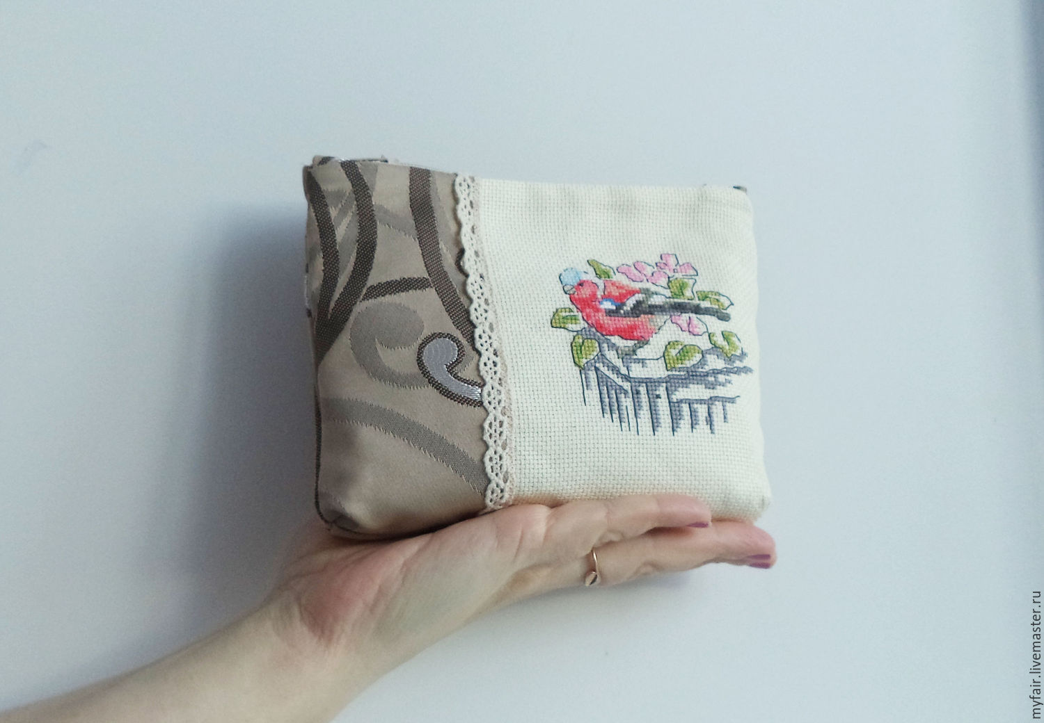 Embroidered Cosmetic Bag ...