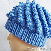 handmade. Livemaster - original item Hat winter Bumps. Handmade.