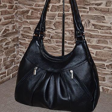 Bags and accessories handmade. Livemaster - original item Leather bag Convenient bag with long handles. Model No. 507. Handmade.