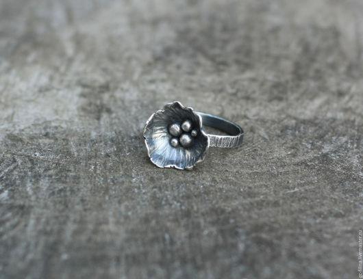 """Кольца ручной работы. Ярмарка Мастеров - ручная работа. Купить кольцо """"Fleur d'hiver"""", серебро. Handmade. Кольцо ручной работы"""