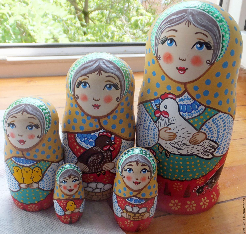 matryoshka doll chicken handmade shop online on livemaster with